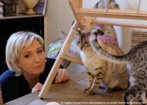 Marine Le Pen et ses chats