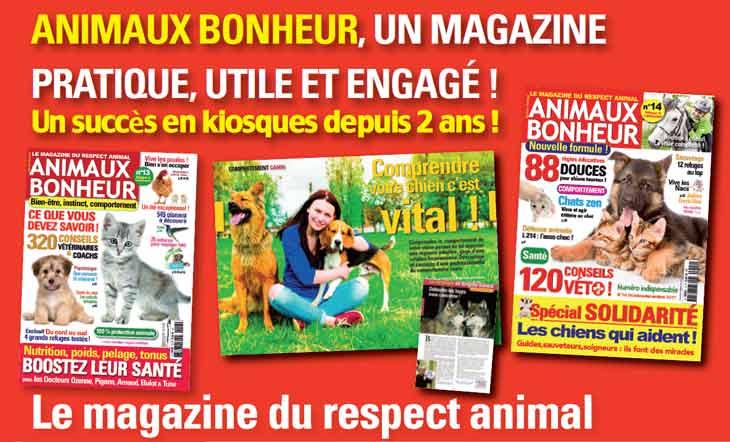 Le magazine Animaux Bonheur